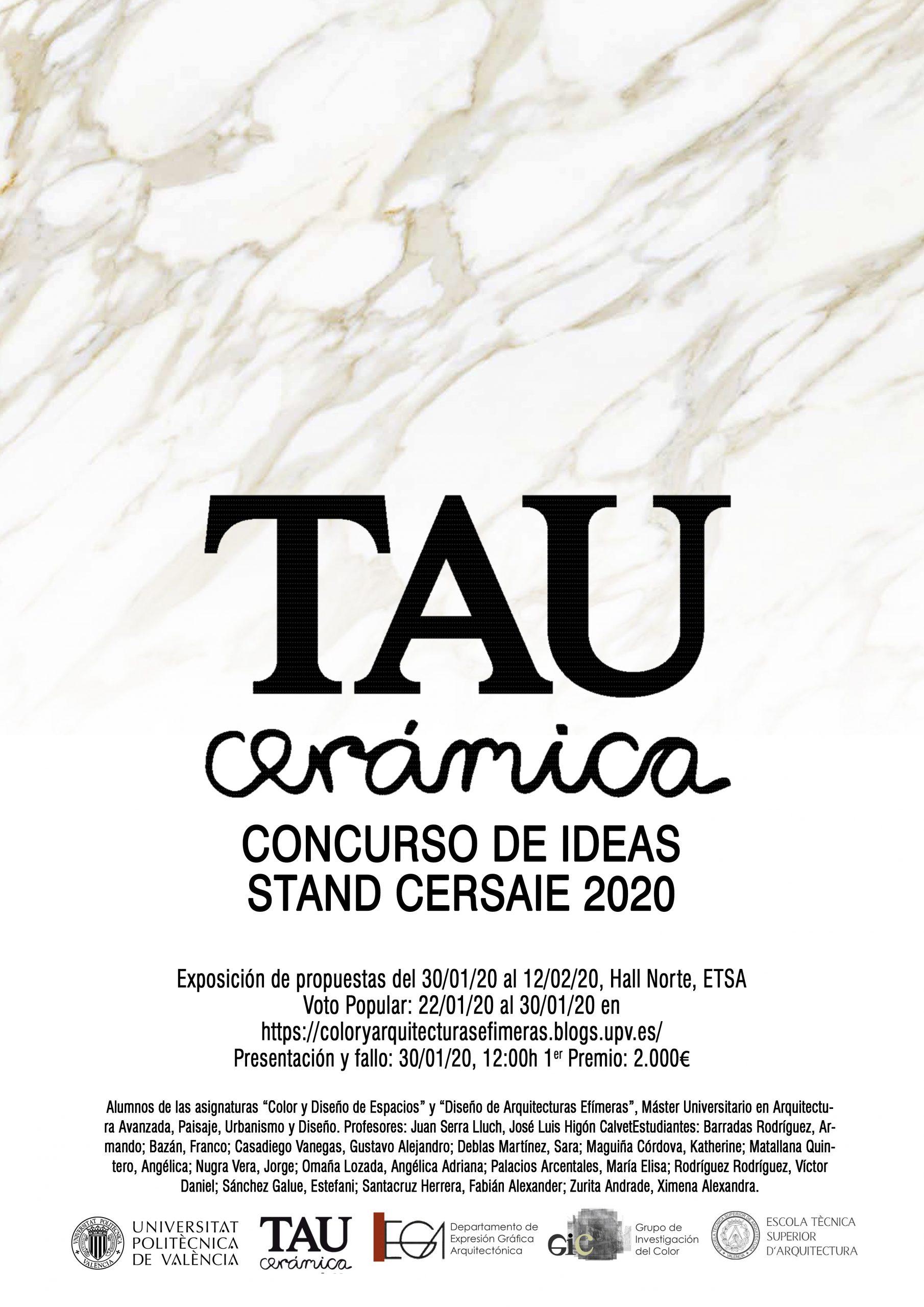 Stand TAU Cerámica para CERSAIE 2020